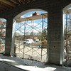 The view on May 6 from inside the new ambulance garage bays, at the rear of the new building. (Bobowick photo)