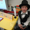 Teddy Teraszkiewicz presented P.T. Barnum for his Living Biographies project. (Hallabeck photo)