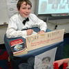 Oliver Parry presented Noah Webster for his Living Biographies project. (Hallabeck photo)