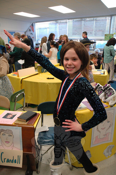 Bridget Lovely presented Dorothy Hamill for her Living Biographies project. (Hallabeck photo)