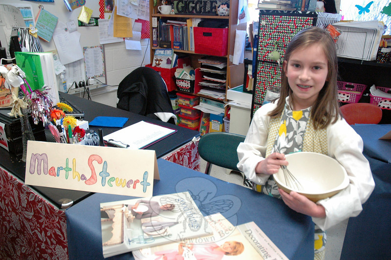 Olivia Patrick presented Martha Stewart for her Living Biographies project. (Hallabeck photo)