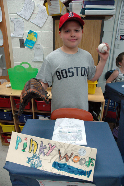 Sean Gordon presented Pinky Woods for his Living Biographies project. (Hallabeck photo)