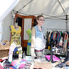 Samantha Traub works the Diana by Design booth, selling the Avon-based creative clothing items. (Bobowick photo)