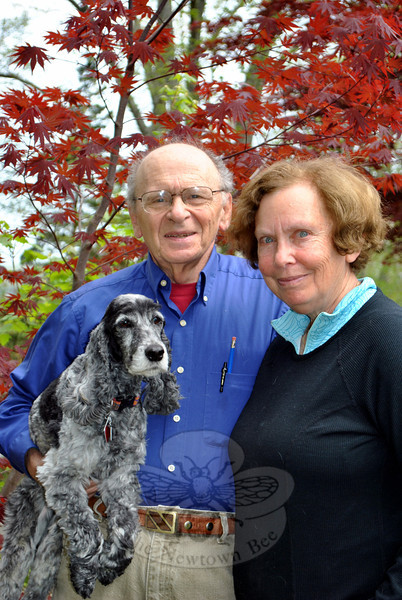 Jodi the English cocker spaniel is not the only thing going with Pete and Julie Stern when they move next month. They take with them nearly 50 years of special Newtown memories. (Crevier photo)