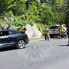 Police report a two-vehicle accident about 11:36 am on May 20 at the intersection of Berkshire Road (Route 34) and High Rock Road in Sandy Hook. Police said that motorist Deborah Beth Marsten, 59, of 9 New Lebbon Road, who was driving a 2014 Audi A-5 convertible, was attempting to make a left turn from northbound High Rock Road onto westbound Berkshire Road, as motorist Frances McCutchan, 64, of 10 Skytop Drive was driving a 2010 Chrysler 300 sedan eastward on Berkshire Road. The two vehicles collided. Police said the Newtown Volunteer Ambulance Corps treated and released both drivers at the scene. Sandy Hook volunteer firefighters responded to the incident. Police said they issued Marsten an infraction for failure to obey a stop sign. (Voket photo)
