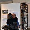 Pete Stern gets a farewell hug from fellow Friends member Denise Kaiser. (Crevier photo)
