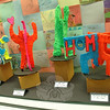 Fourth grade creations inspired by the artist Keith Haring were on display during Head O' Meadows annual art show, held Wednesday, May 14. (Hallabeck photo)