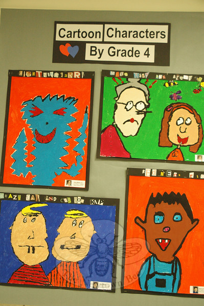 Artwork created by kindergarten through fourth grade students at Hawley Elementary School was displayed throughout the school for its annual art show, held on Wednesday, May 14. (Hallabeck photo)