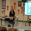 Author and illustrator Grace Lin introduced herself and read from her book The Ugly Vegetables for students at Sandy Hook  Elementary School on Tuesday, May 20. (Hallabeck photo)