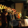 "Head O' Meadow fourth grade students performed their spring concert, under the guidance of music teacher Cynthia Holberg, right, before their fellow school students on Thursday, May 1. The students later performed the concert for family members and friends during a performance on May 5. ""I hope you enjoy the show,"" Head O' Meadow lead teacher Natalie Hammond said before the students sang on May 1. ""I know they have been working really hard."" This year's program included ""You've Got A Friend In Me"" and ""Whisper,"" among other selections. (Hallabeck photo)"