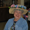 Beautiful hats were the order of the day at the Newtown Senior Center Mother's Day Tea, and Rose Cippola had a smile to match her hat. (Crevier photo)