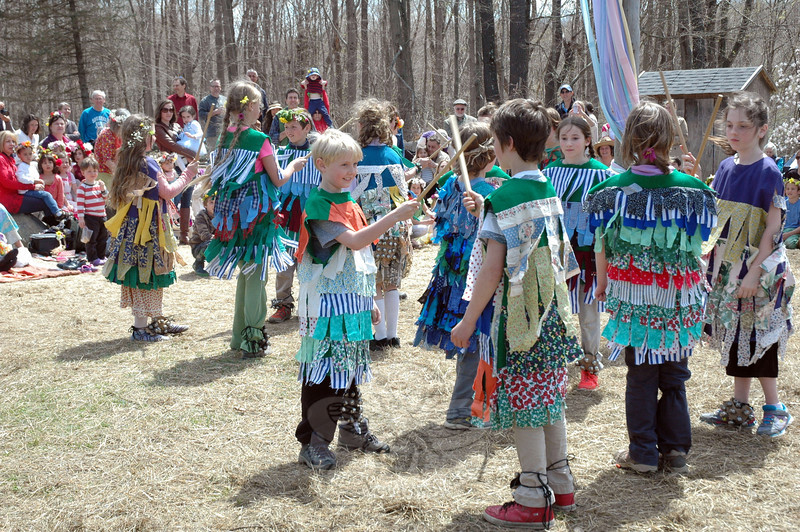 Housatonic Valley Waldorf School fourth grade students performed a Morris & Swords dance on Friday, May 2, during the school's 23rd Annual May Fair. (Hallabeck photo)