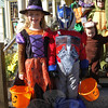 Visitng Country Mill during Saturday's SHOP Halloween Walk were, Gracie, left, and Kenny Ballard. (Hallabeck photo)