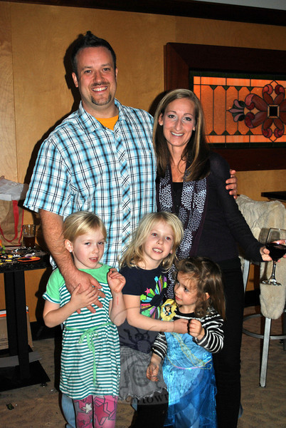 Chef Kristopher Plummer, better known as Chef Plum, with wife Kelly Plummer, and his three daughters, 6-year-old twins Addy and Lily, and 3-year-old Remy. Chef Plum credits the support and inspiration of his family for his successes in and outside of the food world.  (Crevier photo)