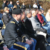 Clear skies and a cool breeze greeted the dozens of residents and students from Newtown Middle School attending the Veterans Day ceremony, Monday, November 11, at the VFW Post 308 property on Tinkerfield Road. (Crevier photo)