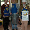 "The Newtown Rotary Club has set its 53rd Annual Pancake Day for Saturday, December 7, from 8 am until 1 pm at Edmond Town Hall in the Alexandria Room. A flyer for the event promises ""all you can eat"" with the purchase of tickets, $7 for adults and $3 for children under 10 years old. Pancake, sausages, and beverages will be served. Photographed from left are Rotarians Larry Gardner, Pat Caruso, and Bob Grossman. (Hallabeck photo)"