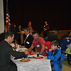 Across the school district on Monday, November 11, students marked Veterans Day in different ways. Head O' Meadow Elementary School, Sandy Hook Elementary School, and Middle Gate Elementary School held breakfast events for visiting veterans, while Newtown High School offered a luncheon. Head O' Meadow, Sandy Hook School, Middle Gate, and Newtown High School also held assemblies for students to learn more about Veterans Day from veterans and to honor those in attendance who have served the country. Hawley Elementary School, Reed Intermediate School, and Newtown Middle School left the choice of how to mark the day up to individual classes or clusters. (Crevier photo)