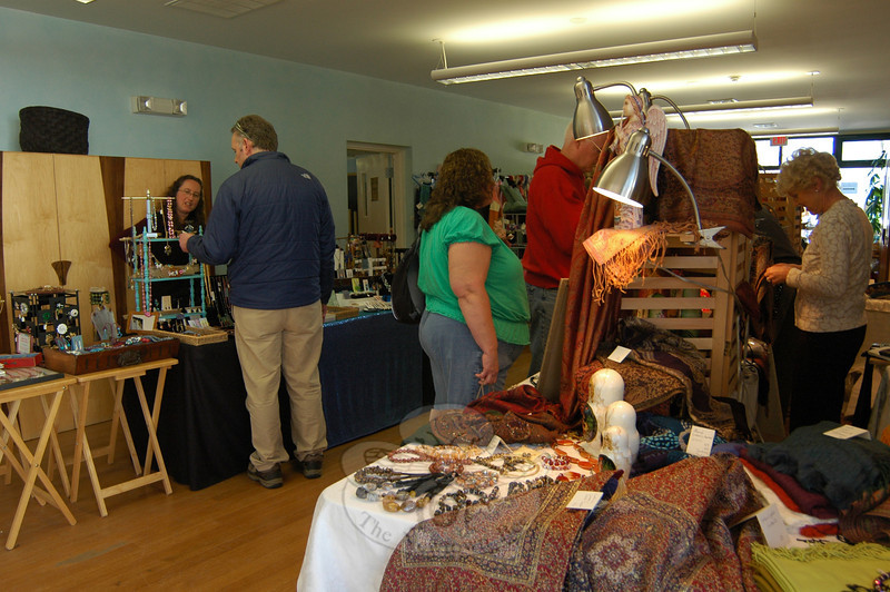 The Housatonic Valley Waldorf School held its Waldorf Fall Fair & Craft Market on Friday and Saturday, November 1 and 2. An array of handmade items by local artisans were available for purchase, and on Saturday, people milled about the school's property to view the goods. Activities were also offered for children during the day, and the second grade classroom was decorated for a Day of the Dead celebration.   (Hallabeck photo)