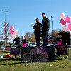 JoAnn, left, and Joel Bacon spoke during the Saturday, November 2, Charlotte's Litter launch, hosted by Newtown Kindness at Fairfield Hills. (Hallabeck photo)