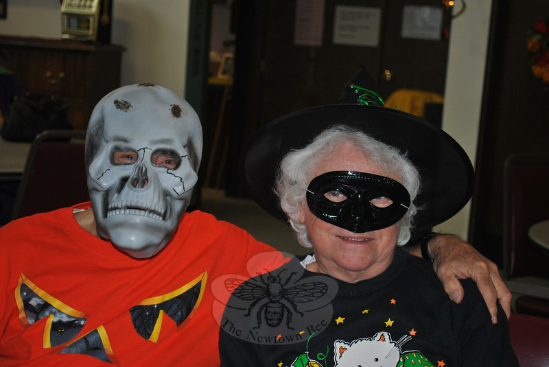 Members of the Newtown Senior Center looked so good in their Halloween Costumes on October 31 it was scary. The seniors celebrated at their annual Halloween Bingo party. Members enjoyed refreshments and prizes, along with games of Bingo. (Crevier photo)