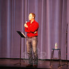 Poet Taylor Mali gave two presentations at Newtown High School on Monday, November 4, before working with students during a workshop later in the day. (Hallabeck photo)