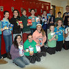 Newtown Middle School Student Council members gathered for a photo during a meeting held on Monday, November 4, to promote the council's annual food drive to collect items for Women Involved in Newtown's (WIN) yearly Thanksgiving Baskets campaign. (Hallabeck)