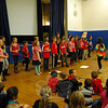 "Middle Gate Elementary School fourth grade teacher Linda Baron's class lead an all-school assembly Community Circle on Friday, October 25, to help teach the importance of the word ""Assertive."" (Hallabeck photo)"