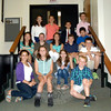 Newtown Middle School students ran for the offices of president, vice president, treasurer, and spokesperson of the school's student council on Friday, October 4, by giving prepared speeches in the school's auditorium. Between speeches students gathered for a photo. (Hallabeck photo)