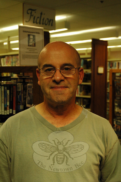 The Newtown Bee: Why do you read? Gary Field: I read for enjoyment and relaxation. It is peaceful. (Silber photo)