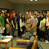 A number of Newtown High School students were named by the National Merit Scholarship Program as Commended Students based on their Preliminary SAT testing. Anne Beier, Kathryn Dalessandro, Amisha Dave, Bethany Dubois, Kevin Gorman, Jeffrey Haylon, Kai Hedin, Nicholas Klein, Michael Lally, Morgan Macchiarulo, Emma Pacchiana, Patrick Pierce, Dale Shearin, Siyuan Sun, Katherine Wojcik, and Daisy Zheng were announced by NHS Principal Charles Dumais, left, as Commended Students in the 2014 National Merit Program on Wednesday, October 2, Tristan Villamil and Katherine Wojcik were named as National Hispanic Recognition Program students, and Amylee Anyoha was named as a National Achievement Program Outstanding Participant earning African American Recognition. Emma Pacchiana was not available for the photo. (Hallabeck photo)