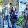 Ann Astarita, center, coordinated the scientific sampling project of aquatic stream life, which was locally sponsored by Candlewood Valley Chapter of Trout Unlimited. Ms Astarita spoke outdoors at St John's Episcopal Church in Sandy Hook Center, where volunteers had gathered before collecting samples at nine local stream sites. (Gorosko photo)