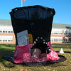 Entries in this year's Newtown Middle School My Favorite Scarecrow Contest are on display through this Sunday, October 27. This year marks the 17th year eighth grade student groups have been challenged to create a larger-than-life scarecrow, designed to frighten away a demon of their choice, that can withstand inclement weather. The scarecrows are then put on display on NMS's front lawn on Queen Street, voted on by the public for $1 per vote, and the top three winning scarecrow groups receive the proceeds to donate to charities of their choice. (Hallabeck photo)