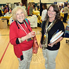 Mae Schmidle, left, and Donna Culbert, along with Della Schmid, not pictured, are the co-chairpersons of the Newtown Health & Public Safety Fair. They are seen at the Newtown Middle School gymnasium where more than 50 exhibitors had displays on Saturday, September 28. (Gorosko photo)
