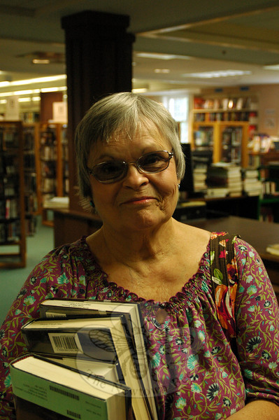 The Newtown Bee: September, according to the American Library Association, is Library Card Signup Month. Roughly how old were you when you got your first library card? Tina Mahoney: Many, many years ago. (Silber photo)