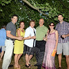 Members of the D'Amico family, from left, includes Matt, Mary Beth, Marie and Peter, Sara, and Chris at George and Shane Miller's house at 50 Main Street Saturday, September 7, for the annual Mozart, Merlot & Mums fundraiser. (Bobowick photo)