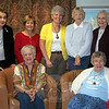 CWU/Newtown & Greater Danbury board members for 2013-14 include, from left, standing, Jeane Roberts, historian; Jean Conover, vice president; Linda Manganaro, celebrations chairperson; Peg Forbell, treasurer; the Reverend Sue Klein, treasurer; seated, Darlene Jackson, president; and Jeanette Mayer, Fellowship of the Least Coin. (Hicks photo)
