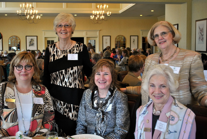 Marilynn Klepfer, publicity chairperson for The Garden Club of Newtown, second from right, is joined by board members of the Federated Garden Clubs of Connecticut. From left are Leslie Martino, 2nd vice president of the FGC of Connecticut; Jane Waugh, incoming president of the FGC; Patricia Dray, board member; Ms Klepfer; and Bronwyn Schoelzel, immediate past president of the FGC. (Crevier photo)