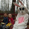 Brother and sister Owen and Ava Stoltz met the Easter Bunny during a wagon ride at this year's Bunny Watch on Friday, April 3. (Hallabeck photo)