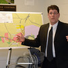 Kurt Mailman, an engineer with Fuss & O'Neill, Inc, updated Water & Sewer Authority members on April 9 on project planning for the Hawleyville sewer system extension. The sewer extension, which is slated to be built later this year, is intended to foster economic development in the area near the Exit 9 interchange of Interstate 84.	(Gorosko photo)
