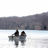 Opening day for fishing was on Saturday, April 11, as the Connecticut Department of Energy & Environmental Protection changed the start of the season from the third Saturday in April to the second Saturday this spring. These anglers were among those who braved the wind and chill in the air out on Taunton Lake. (Hutchison photo)