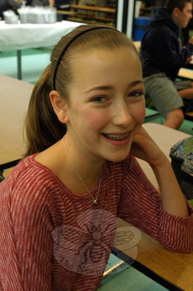 The Newtown Bee: If you could learn anything in one minute, what would you want to learn? Fallyn Kirlin: Calculus. (Hallabeck photo)