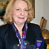 Patricia Hubert holds the General David Wooster Medal in Bronze Masonic humanitarian award she received for her dedication to the Newtown community. (Crevier photo)