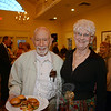 Among attendees were Dr Robert Grossman and Joan Crick enjoyed the food and fun. (Bobowick photo)