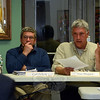 Water & Sewer Authority (WSA) members Carl Zencey, left, and Alan Shepard were among seven WSA members who on April 1 unanimously rejected a Trumbull developer's requests to expand the sewer service district and also to allocate wastewater treatment capacity at the sewage treatment plant for a proposed large multifamily complex at 79 Church Hill Road, near Exit 10 of Interstate 84. (Gorosko photo)