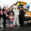 All-Star Transportation, LLC, the Waterbury-based firm that provides local school bus transportation, held an Easter food drive for the needy near the Stop & Shop supermarket at Sand Hill Plaza on South Main Street in Botsford on Saturday, March 28. The food items, cash, and supermarket debit cards donated at the food drive were given to the food pantry at the town Social Services Department at Town Hall South. Shown at a school bus, which was used to hold the donated food items, are, from left, Mariel Walters, Shelby Alves, Payton Walters, Linda Nasse, Teaghan Walters (in front), The Easter Bunny (a/k/a Dave Cicchesi), and Alan Colangelo. Among the others, not pictured, who participated in the food collection project were George Linbarger, Nick Yuschak, Faith Millo, Robert Mazzari, Kate Maki, Christine Schiemann, Laurie Ritter, and Dave Prizekoria. (Gorosko photo)