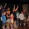 Campers who took part in the Theater & Performance Workshop at SMART Camp perform for fellow campers and family members, Friday, July 31, culminating their two weeks of fun. (Crevier photo)