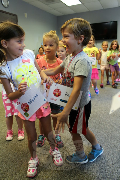 """Children played a few rounds of """"Red Light, Green Light"""" on August 3, the first day of the second session of Safety Town. Each day featured lessons in personal safety, often hidden within games, storytime, and crafts. (Hicks photo)"""