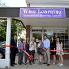 Helping to open the Wise Learning Specialized Tutoring Center at 20 Church Hill Road were, from left, Economic Development Commissioner Matt Mihalcik, the center's Marketing Director Randy Donaldson, Fairfield location Director Jen Wilson, First Selectman Pat Llodra, owner Michele Isenburg, Executive Director Rob Brent, Assistant Director Emily Mackenzie, and manager Emma Devine. (Bobowick photo)