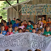 The entire campership of Dickinson Park Day Camp, final session, rocks the crowd at the annual year end talent show, Thursday, August 5. (Crevier photo)