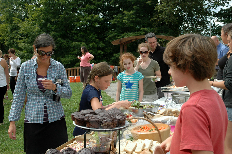 A Housatonic Valley Waldorf School harvest feast offered a range of food options. (Hallabeck photo)